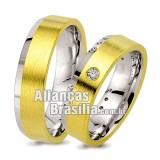 Alianças  em  ouro 18k e prata Df