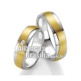 Alianças de ouro 18k e prata Df