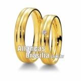 Alianças noivado 18k Df