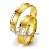 Alianças Brasilia de noivado e casamento 18k 750