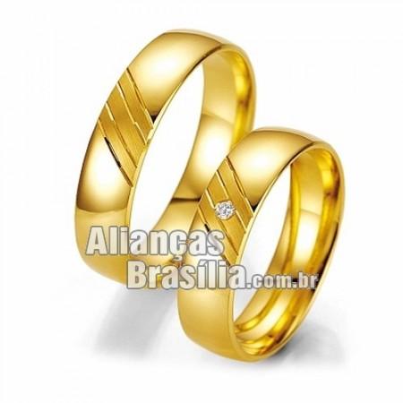 Alianca Brasilia  de noivado e casamento