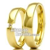 Alianças em ouro 18k 750 Df