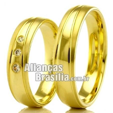 Alianças em ouro 18k para casamento Brasilia