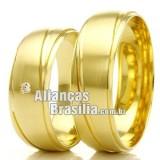 Alianças em ouro 18k Df