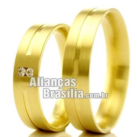 Alianças em ouro  para casamento e noivado Df