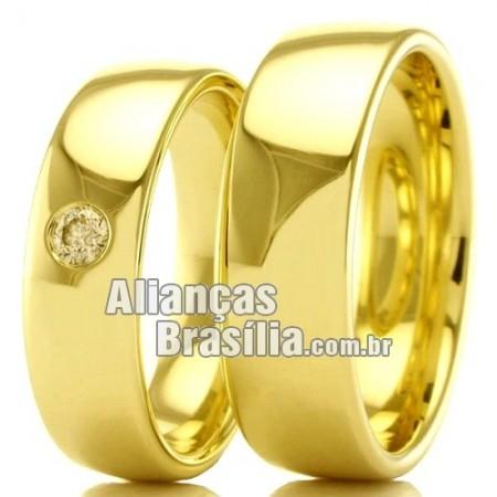 Alianças em ouro para casamento Df