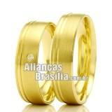 Alianças DF em ouro 18k...