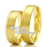 Alianças DF em ouro 18k